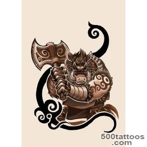Boar Tattoo design by k hots on DeviantArt_21