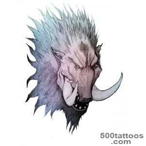 DeviantArt More Like Boar tattoo by 3KF_25