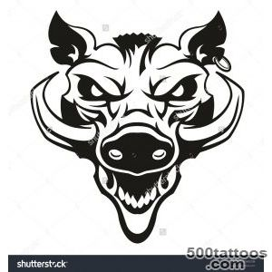 Stock Images similar to ID 227329663   wild boar tattoo mascot_42