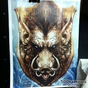 Watch Splash Tattoos#39s Vine, Boar head part 2 #tattoo #boar _27