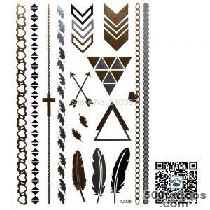 Aliexpresscom  Buy 1pclotTJ017,Metallic Temporary Tatoo _44