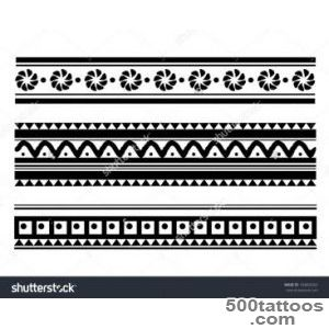 Maori  Polynesian Style Bracelet Tattoo Stock Vector Illustration _36