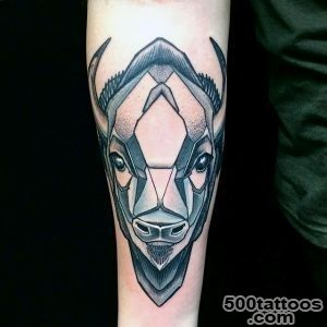 Buffalo tattoo design, idea, image