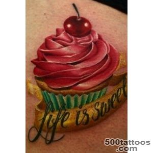 85+ Sweet Cake Tattoos_37