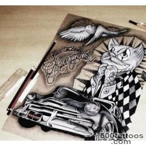 Old Car   Gato Chicano   Box Tattoo   Paz  BoxTattoo  Pinterest _9