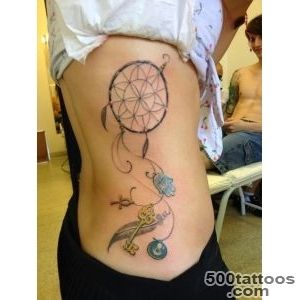60 Dreamcatcher Tattoos to Keep Bad Dreams Away_12