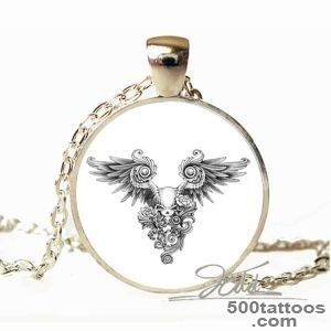 Hot Fashion Unisex Vintage tattoo choker Black Skeleton Wings _37