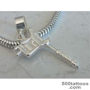 TATTOO GUN Sterling Silver TATTOOING Charm Fits by SilverCharms_25