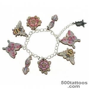 Wooden Tattoo Bee Charm Bracelet  Punky Pins_28