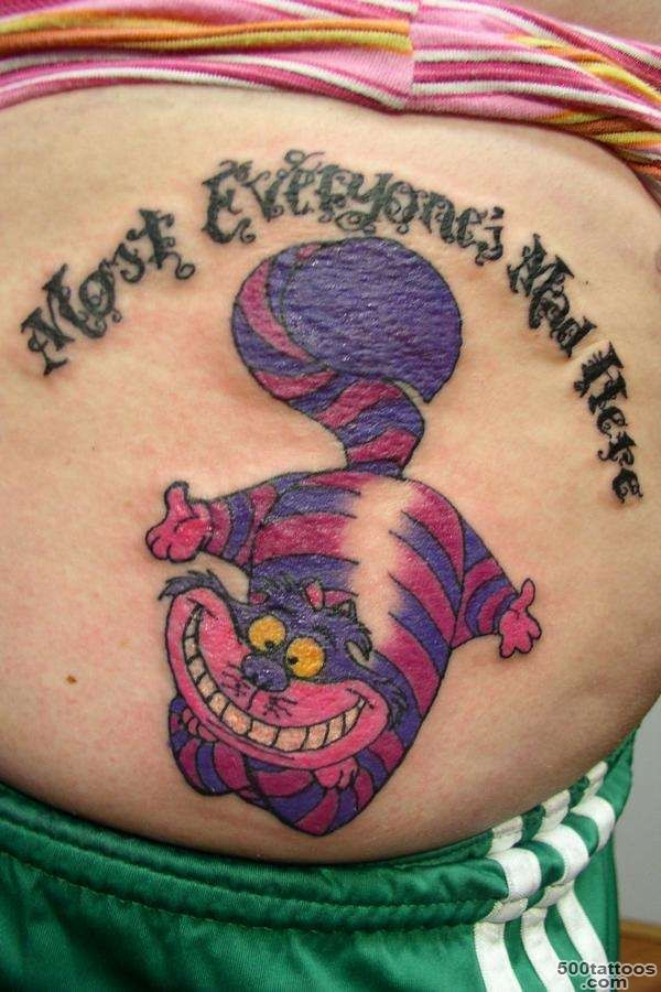 55+ Awesome Cheshire Cat Tattoos_21