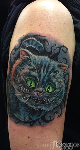 Cheshire Cat Tattoo by Mike DeVries  Tattoos_46