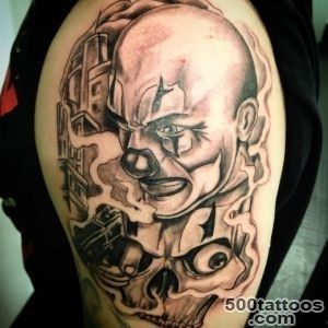 21+ Gangsta Clown Tattoos And Designs_50