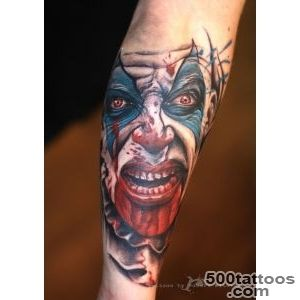 Clown Tattoo by Robert Witczuk  colour tattoos  Pinterest _37
