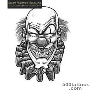 Clown Tattoos, Designs And Ideas_5