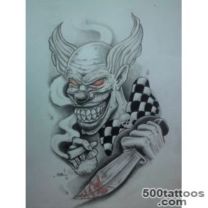Pin Killer Clown Tattoo Designs Like Design on Pinterest_47