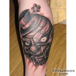 scary clown tattoo  Tattoo ideas  Pinterest  Creepy Tattoos _22