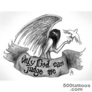 20 Superb Only God Can Judge Me Tattoo Designs_37