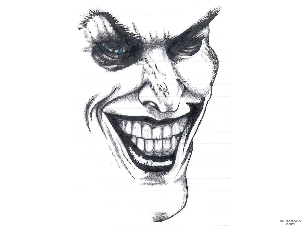 Smiling Jester Joker Tattoo Design   Tattoes Idea 2015  2016_7