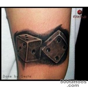 Dice Tattoo , Realism Tattoo , Geztattoo , Black N by _25