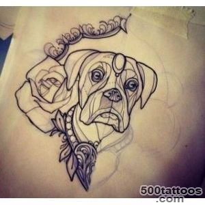 neo traditional tattoo flash boxer dog  Tattoos  Pinterest  Neo _20