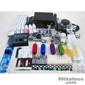 Complete Tattoo Kit 4 Machine Guns Inkspigment 10ML Power + Plug _7