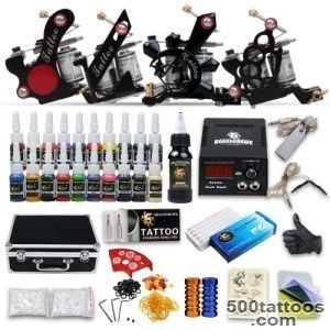 DragonHawk Complete Tattoo Kit 4 Tattoo Machines Guns Kit Tattoo _50