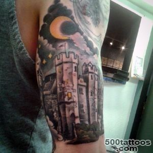 80 Castle Tattoos For Men   Masculine Fortress Designs_35