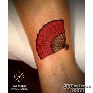 LA DOLORES TATTOO TATUAJE MADRID  Tattoo  Pinterest  Fan Tattoo _20
