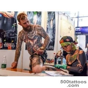 Tattoo enthusiasts gathered in China to showcase body art at an _14