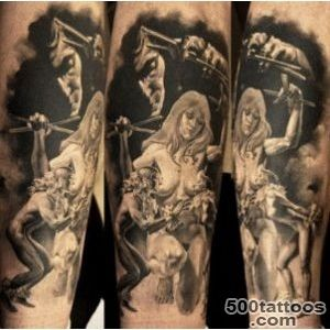 Figures tattoo by Dmitriy Samohin  Photo No 170_37