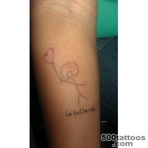 Stick figure tattoo! La belle vie )) happy birthday to me Being _7