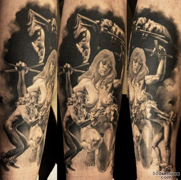Figures tattoo by Dmitriy Samohin  Photo No. 170_37