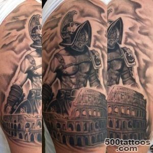 50 Gladiator Tattoo Ideas For Men   Amphitheaters And Armor_10
