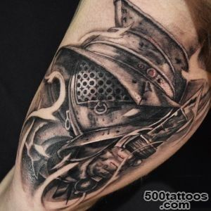 50 Gladiator Tattoo Ideas For Men   Amphitheaters And Armor_18