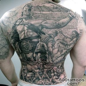 50 Gladiator Tattoo Ideas For Men   Amphitheaters And Armor_26