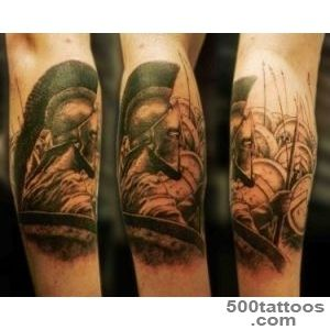 Pin Spartan Tattoo Gladiator Black And Grey Shading Sleeve Design _38