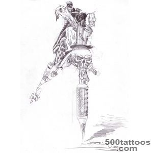DeviantArt More Like Tattoo Gun Tattoo Flash by aworldasleep_41