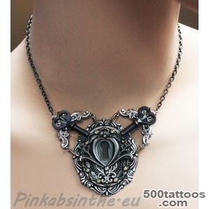 DeviantArt More Like Keyhole chest piece tattoo necklace I by _40