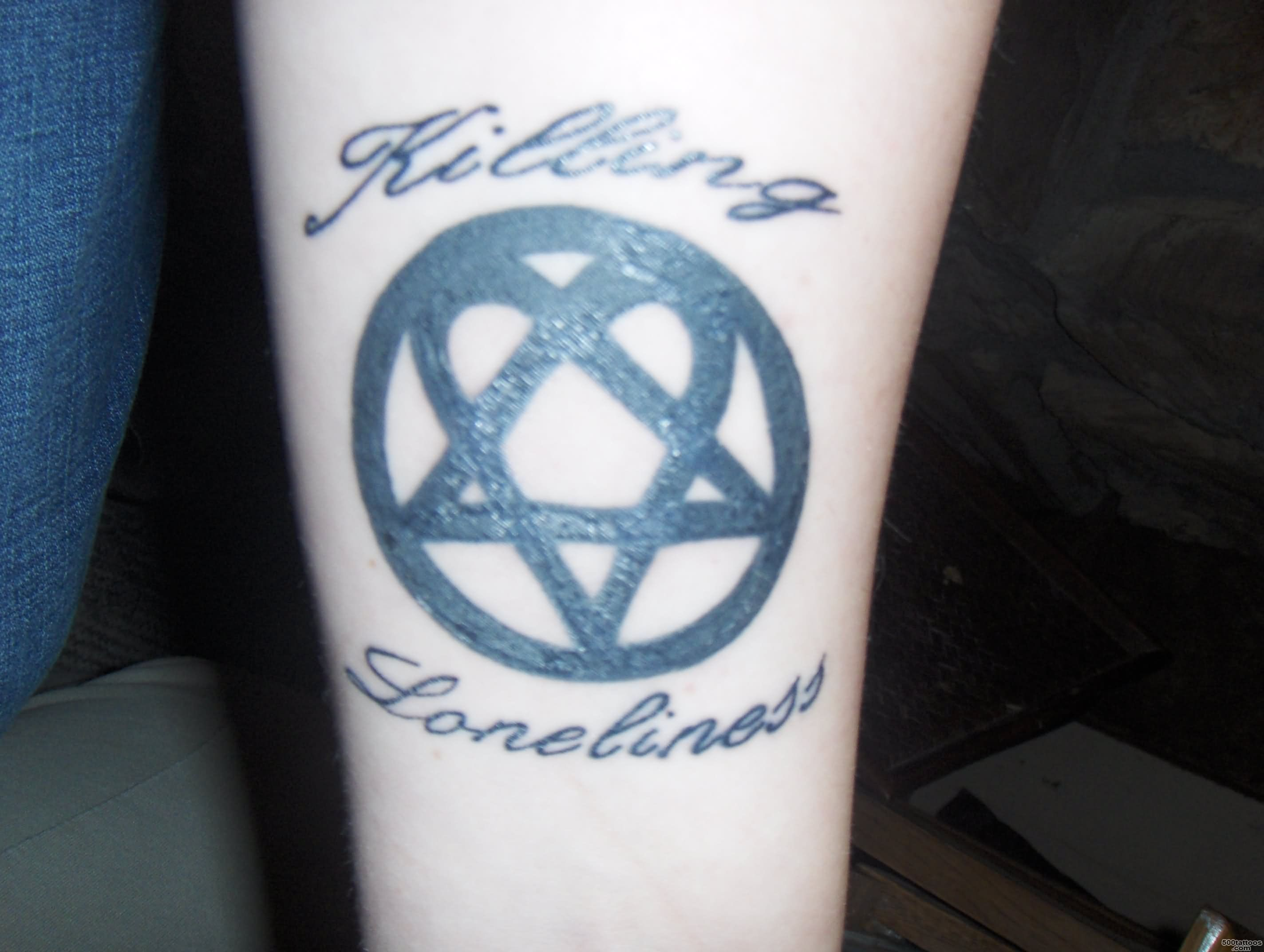 15 Heartagram Tattoo Designs, Images And Pictures_50