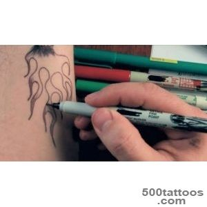 How To Draw Marker Tattoos Part 1   YouTube_1