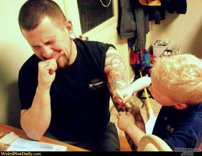 Funny Pictures @ WeirdNutDaily   Magic Marker Tattoo_38