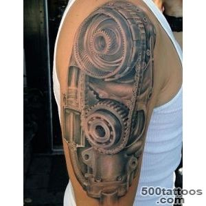 50 Mechanic Tattoos For Men   Masculine Robotic Overhauls_23