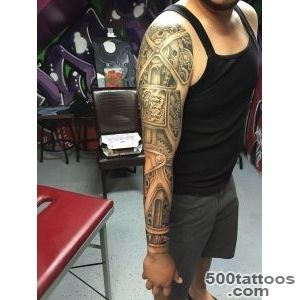 Mechanic Full Sleeve Tattoo by Michael Medina – Michael Medina Art_21