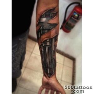 Unique Mechanical Tattoo Designs For Boys_9