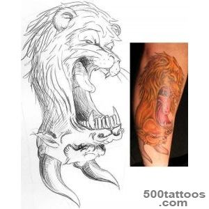 Lion minotaur reversable tattoo_50