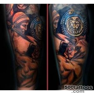 Theseus and Minotaur tattoo_21