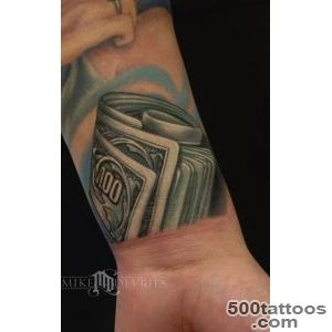 Mike DeVries  Tattoos  Color  Money Tattoo_31
