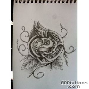 825e822e3 Places to Visit on Pinterest Money Tattoo, Money Rose Tattoo and _37