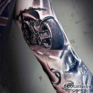 60 Motorcycle Tattoos For Men   Two Wheel Design Ideas_1