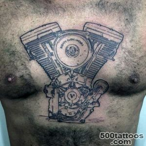 60 Motorcycle Tattoos For Men   Two Wheel Design Ideas_8